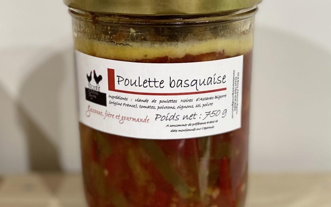 Poulette basquaise de Noir d'Astarac 750g