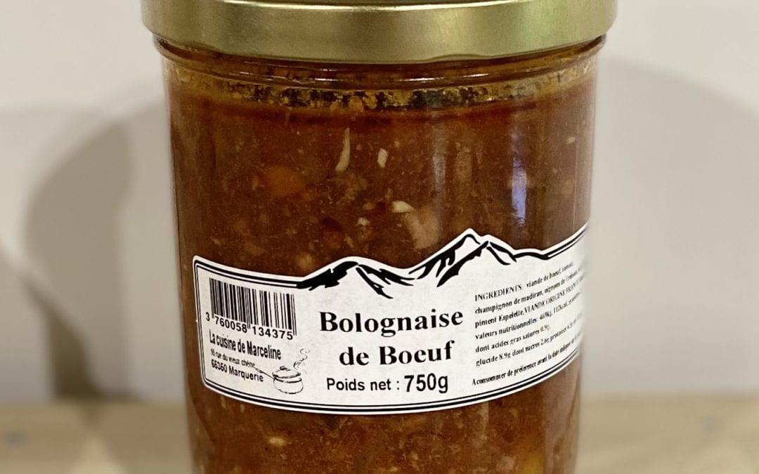 Bolognaise de Bœuf 750g